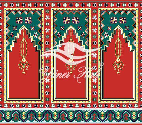 saflı ve mihraplı cami halısı